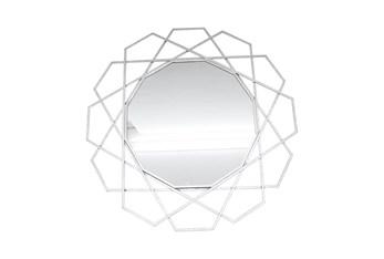 35 Inch Geometric Wall Mirror