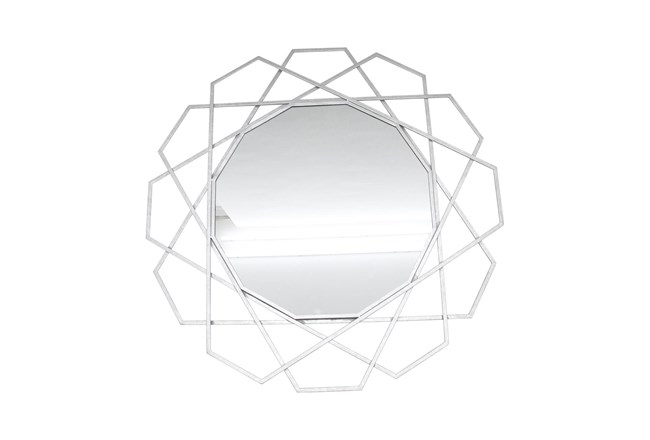 35 Inch Geometric Wall Mirror  - 360