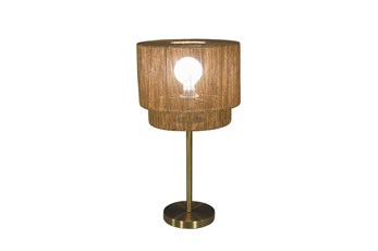 Table Lamp 20 Inch With Woven Shade