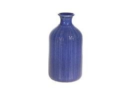 9 Inch Ceramic Blue Vase