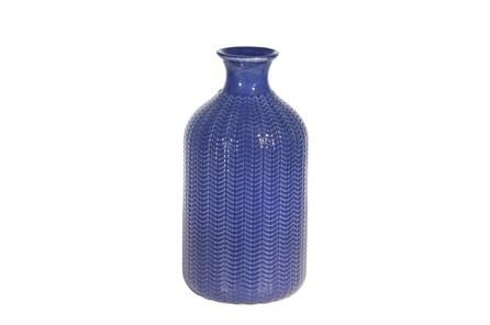 9 Inch Ceramic Blue Vase - Main