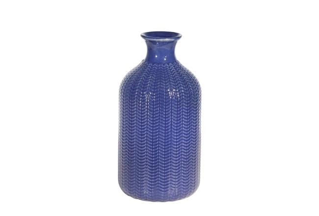 9 Inch Ceramic Blue Vase - 360