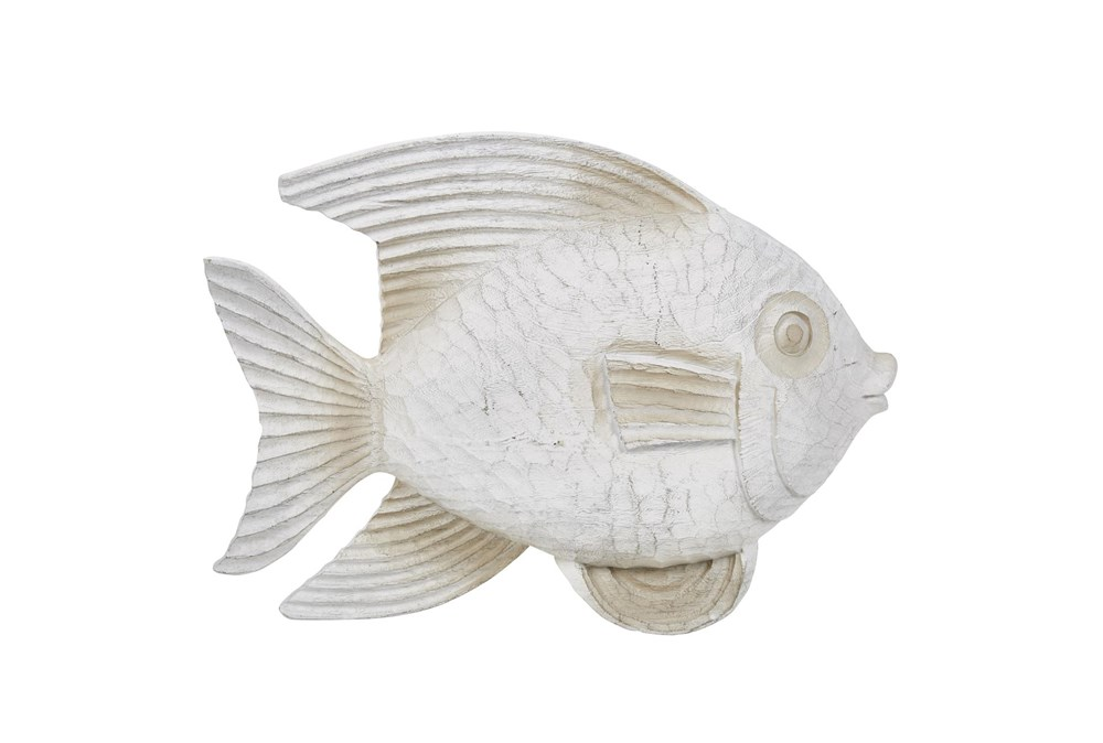 White Wash Fish Figurine