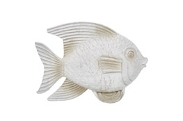 White Wash Fish Figurine