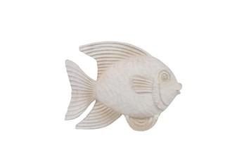 Whitewash 10 Inch  Fish Figurine