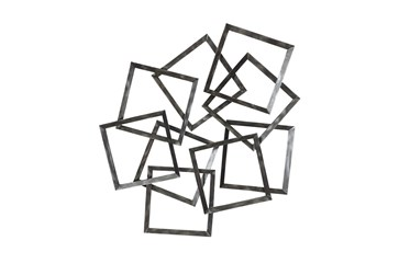 Wall Decor Scattered Silver Boxes