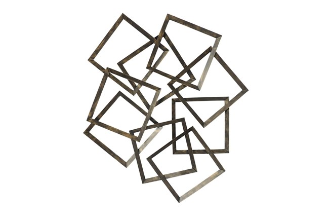 Wall Decor Scattered Bronze Boxes - 360