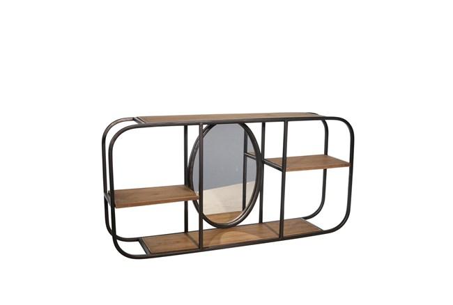 Wall Decor 24 Inch Metal/Wood Wall Shelf - 360