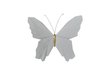Youth 8 Inch White Butterfly Wall Decor
