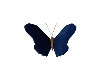 Youth Navy 6 Inch Butterfly Wall Decor
