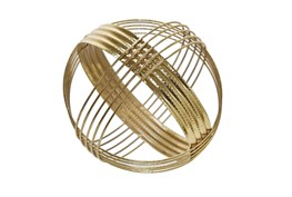 Gold 10 Inch Sphere Table Decor