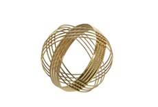 Gold 8 Inch Sphere Table Decor