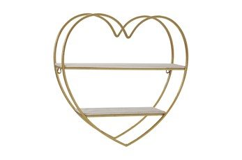 Youth Wall Decor 2-Tier Heart Shelf