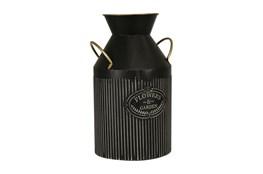 Black 14 Inch Handled Garden Vase