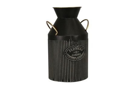 Black 14 Inch Handled Garden Vase - Main