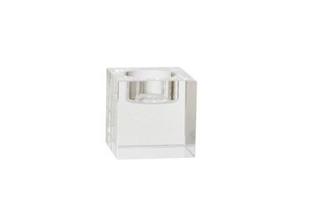 3 Inch Clear Glass  Candle Holder - Main