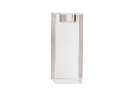 6 Inch Clear Glass  Candle Holder - Main