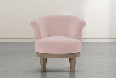 Cleo Rose Swivel Accent Chair