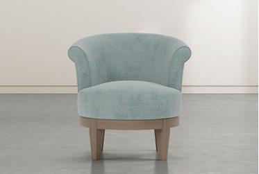 Cleo Aqua Swivel Accent chair