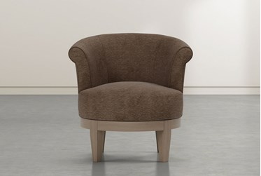 Cleo Brown Swivel Accent Chair