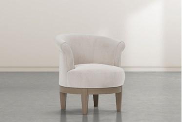 Cleo Cream Swivel Accent Chair