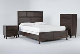 Montauk 3 Piece Eastern King Panel Bedroom Set
