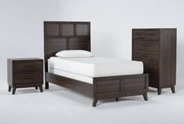 Montauk 3 Piece Twin Panel Bedroom Set