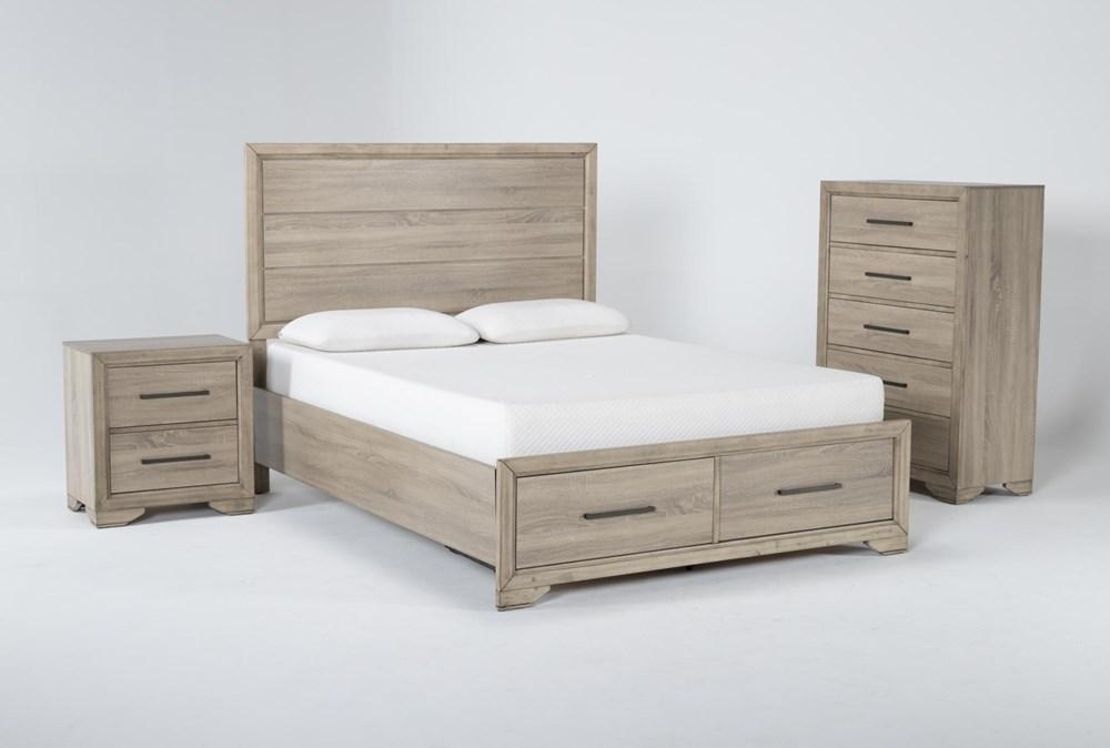 Hillsboro 3 Piece Queen Storage Bedroom Set