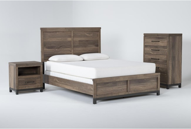 Meadowlark 3 Piece Eastern King Panel Bedroom Set - 360