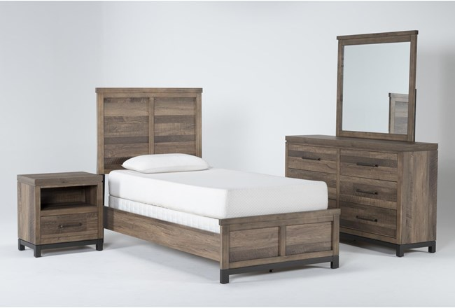 Meadowlark 4 Piece Twin Panel Bedroom Set - 360