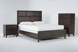 Montauk 3 Piece California King Panel Bedroom Set