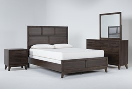Montauk 4 Piece Eastern King Panel Bedroom Set