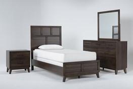 Montauk 4 Piece Twin Panel Bedroom Set