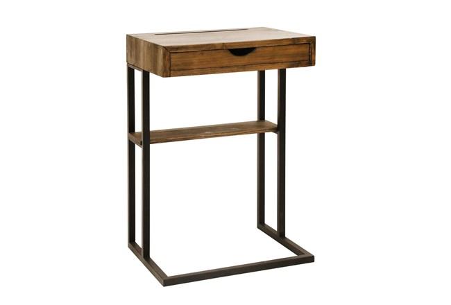 Wood + Metal C Table  - 360