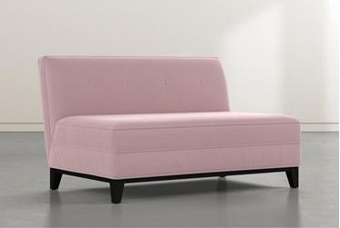 Holden IV Pink Velvet Settee