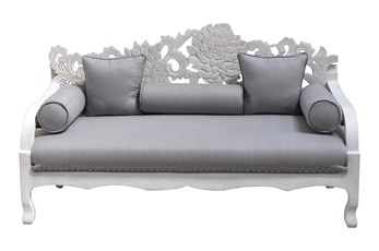 "White Wash Floral Back 70"" Loveseat"