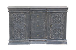 "Charcoal 3 Drawer 2 Door 64"" Sideboard"