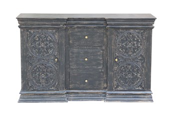 """Charcoal 3 Drawer 2 Door 64"""" Sideboard"""