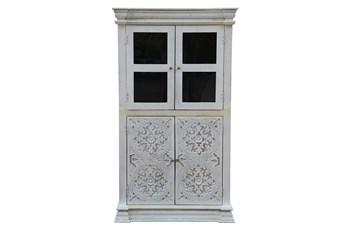 White Wash Cam 2 Door Wine Cabinet