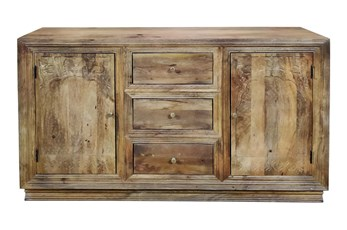 "3 Drawer 2 Door Carved 64"" Sideboard"