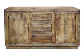 """3 Drawer 2 Door Carved 64"""" Sideboard"""