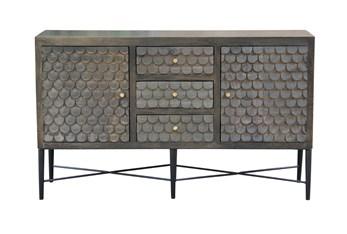 "Grey Wash Scale 3 Drawer 2 Door 64"" Sideboard"