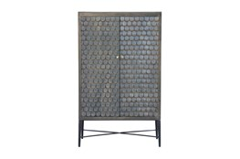 Grey Wash Scale 2 Door Cabinet