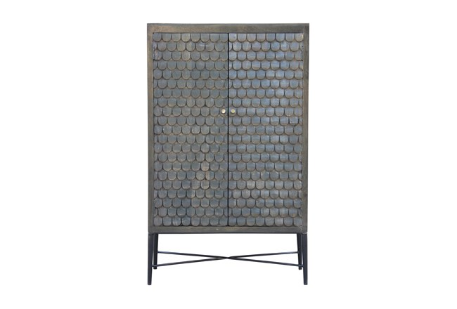 Grey Wash Scale 2 Door Cabinet  - 360