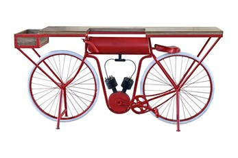 Red + White Bicycle Bar