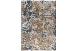 63X90 Rug-Abstract Copper/Blue