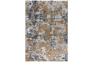 """7'8""""x10'5"""" Rug-Abstract Copper/Blue"""
