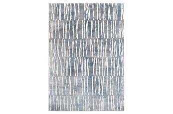 90X126 Rug-Tallymark Grey/Blue