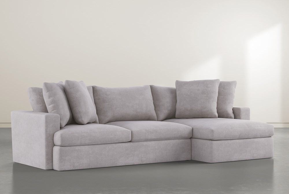 """Grand Down 2 Piece 125"""" Sectional With Right Arm Facing Chaise"""