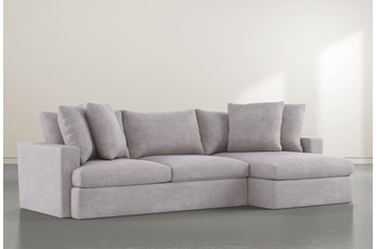 "Grand Down 2 Piece 125"" Sectional With Right Arm Facing Chaise"